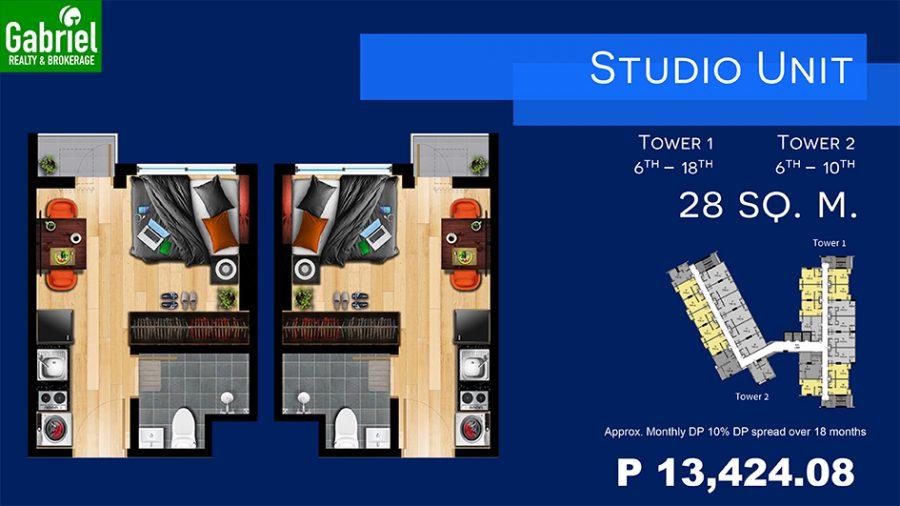 studio floor plan, northwoods place