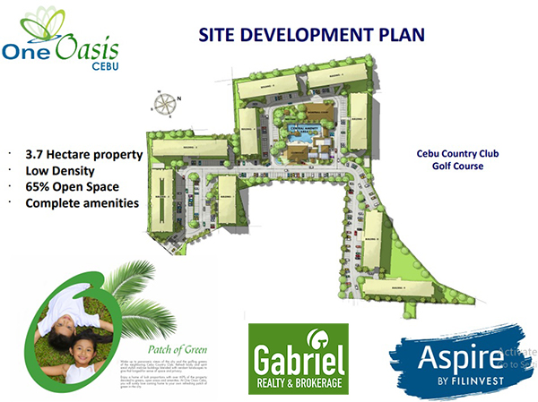 site development plan of one oasis