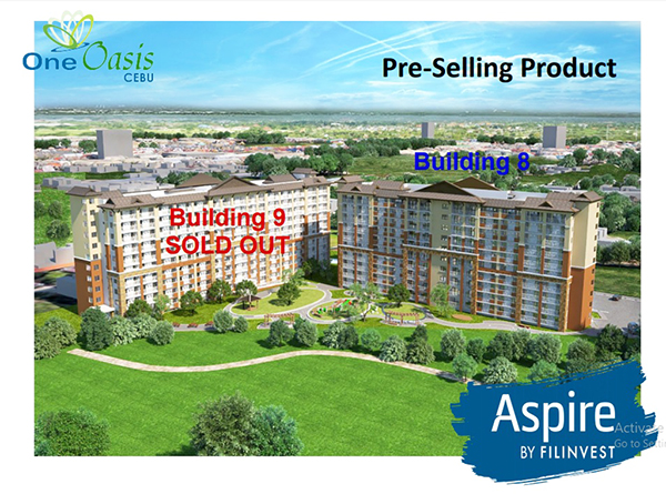 pre selling condominium in one oasis cebu
