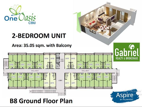2 bedroom floor plan in one oasis cebu