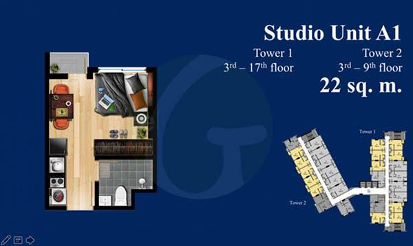 studio unit floor lay out