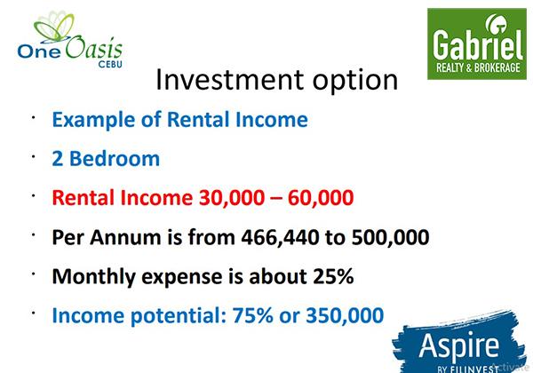 cebu investment in one oasis cebu