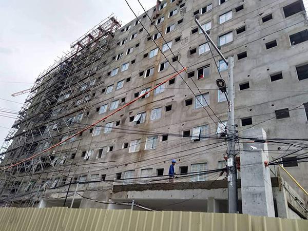 ongoing construction of symphoni nichols condominium