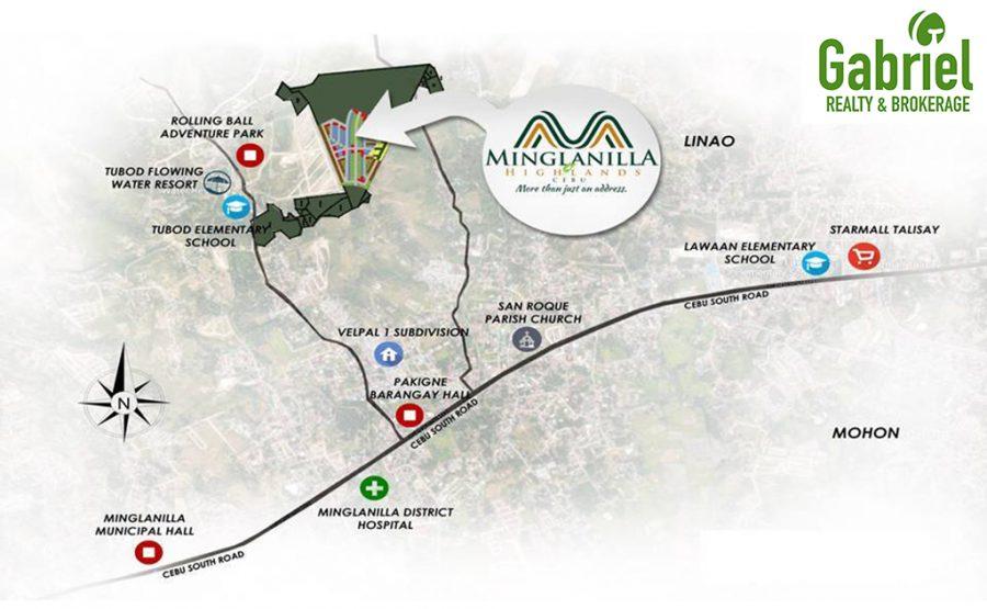 location of minglanilla highlands in tubod, minglanilla, cebu