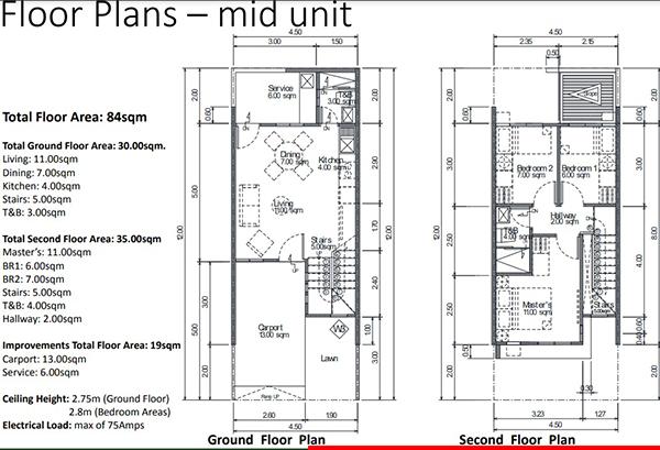 floor plans of sun hera residences townhouses