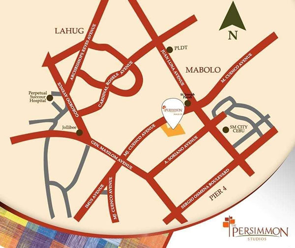 location of persimmon condominium in cebu