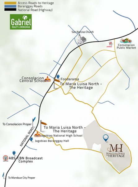 vicinity map of maria luisa north - the heritage