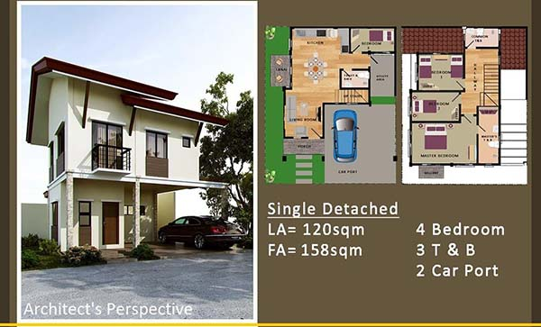 single detached in luana homes floor lay out
