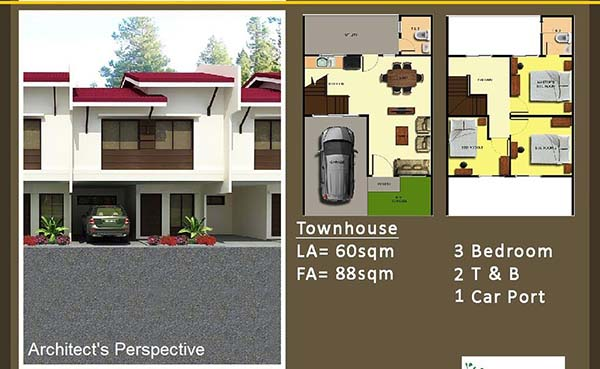 townhouse floor plan in luana homes dos minglanilla