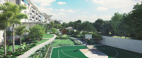 multi purpose court in the condominium