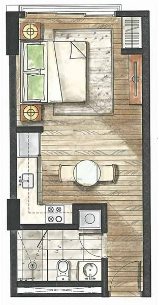 studio floor plan in 32 sanson by rockwell