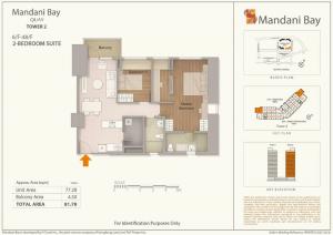 2 bedroom suite floor plan