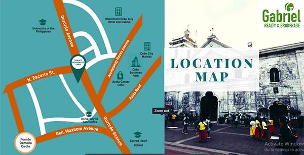 vicinity map of vista suarez cebu