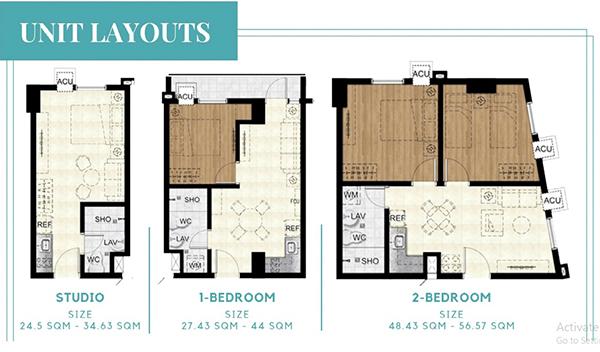 unit layouts in suarez residences cebu