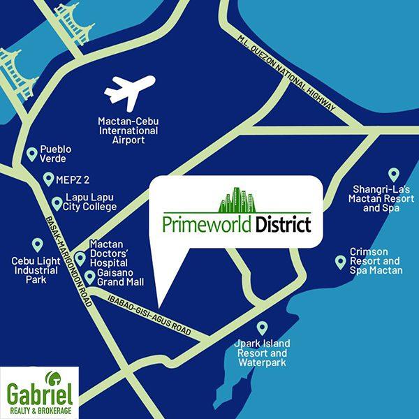 vicinity map of primeworld district