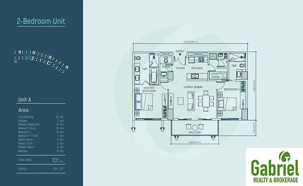2 bedroom floor plan of aruga beach resort