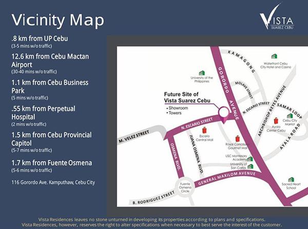 vicinity map of suarez residences