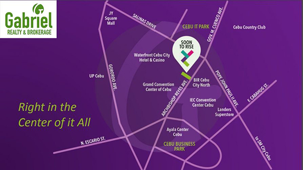vicinity map of vertex central in cebu it park