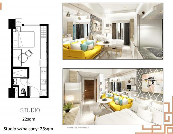 sun park royal hotel and residences studio unit floor plan