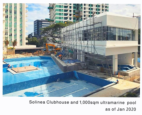 solinea clubhouse and ultramarine pool in cebu business park