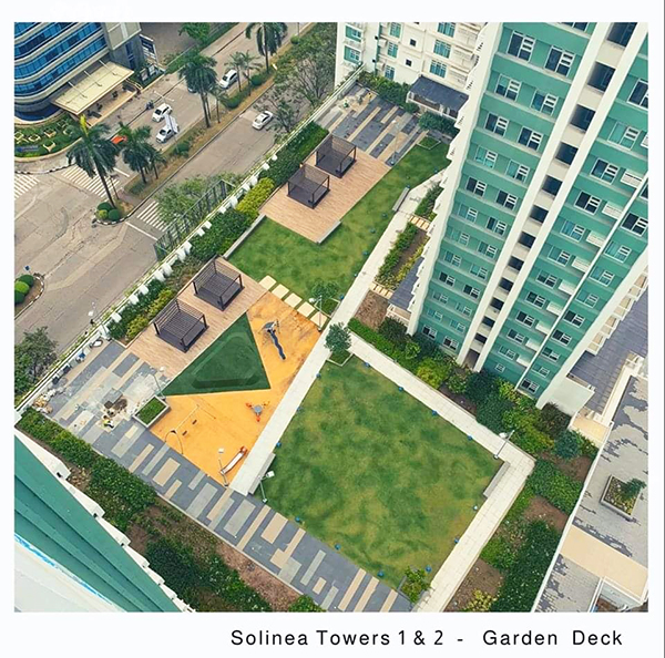 garden deck of palatine solinea condominium in cebu business park