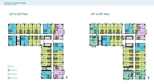 floor layout at the 22nd to 36th floors