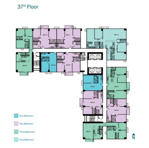 floor plan at the 37th floor