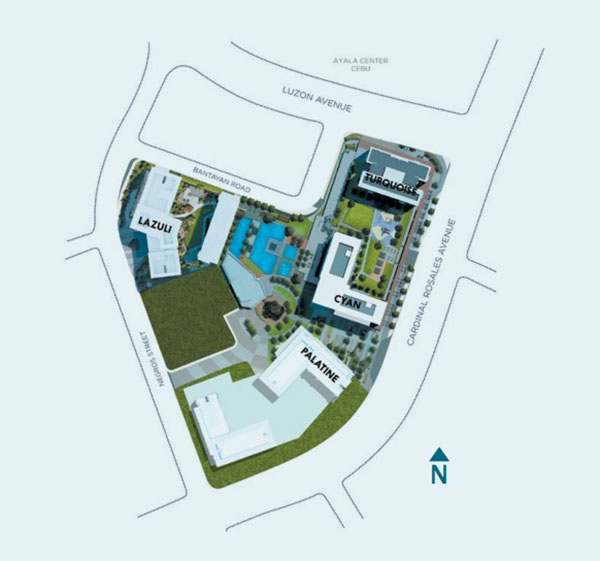 site development plan of palatine solinea in cebu business park