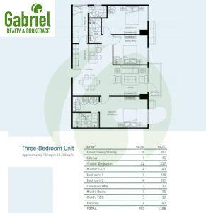 3-bedroom floor plan