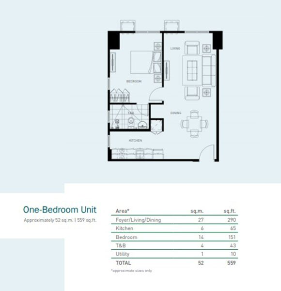 one bedroom unit floor plan