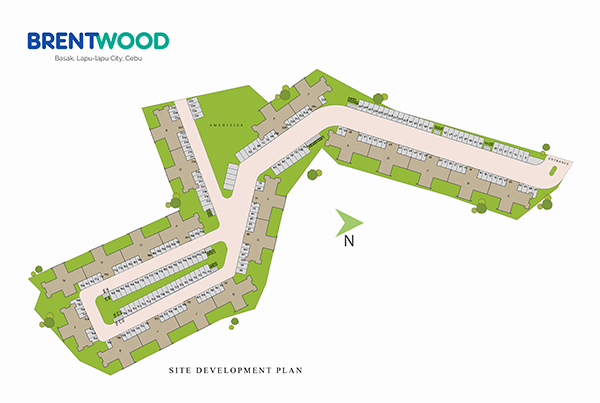 site development plan or master plan of brentwood