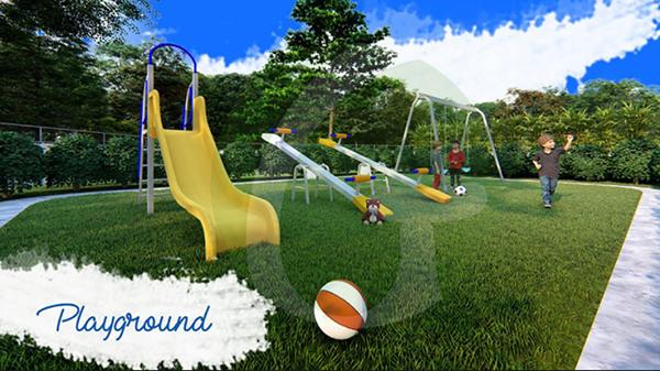 playground with children's playing