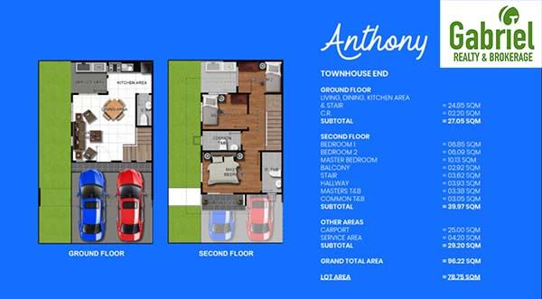 townhouse floor plan 2
