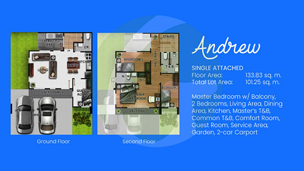 Andrew single attached floor plan