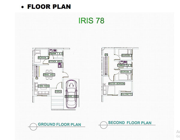 Irish 78 model unit single detached floor plan