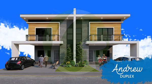 2 carport duplex model house