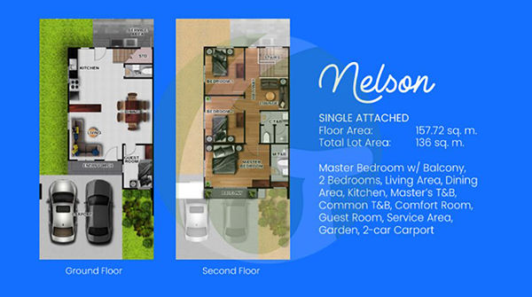nelson single attached floor plan