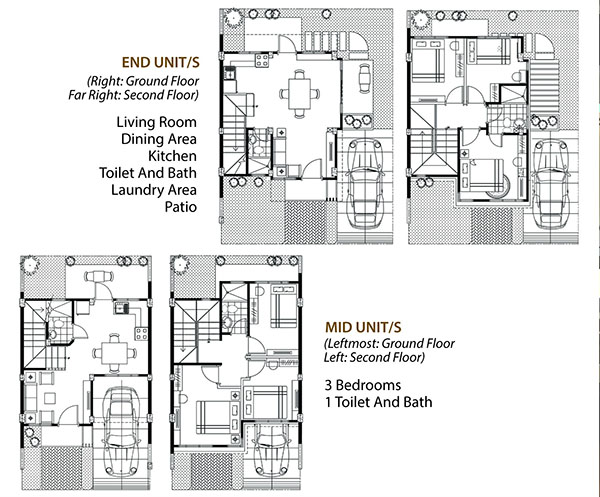 townhouse floor plan in kahale residences