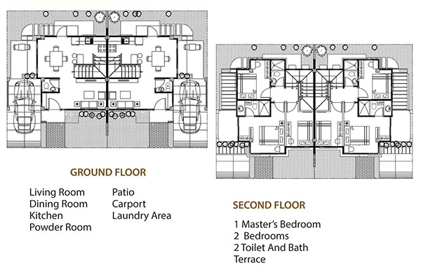 duplex model floor plan in kahale residences