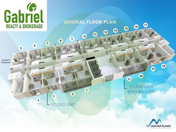 typical floor plan of the mactan plains condo