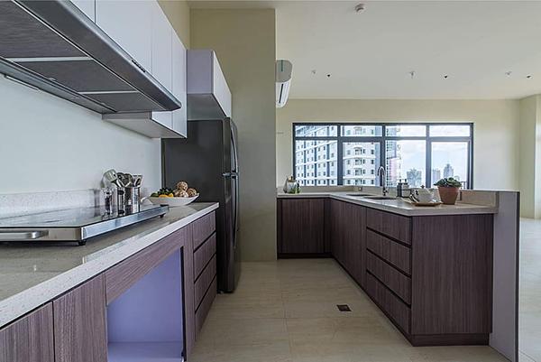 kitchen cabinets in the penthouse sundance condominium