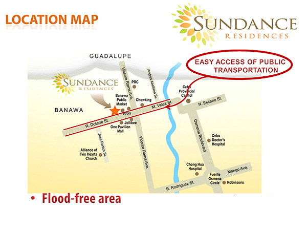 sundance residences' location is flood-free