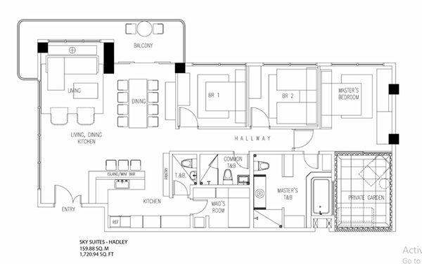 penthouse condominium unit floor plan