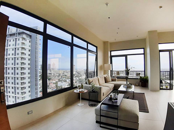 the sala set in the penthouse