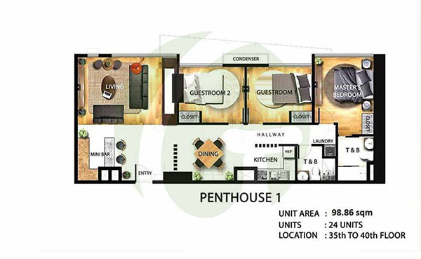 100 sqm penthouse floor plan in mandaue condo