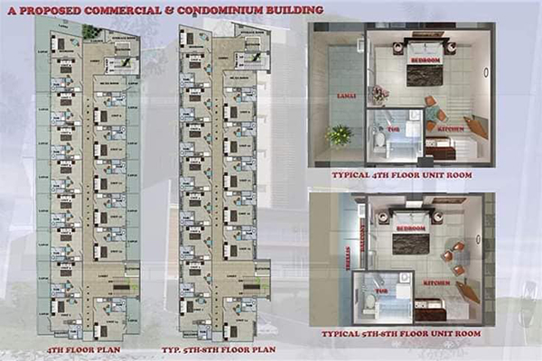 typical floor plans of the studio units