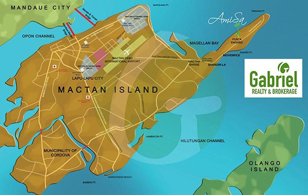 vicinity map of amisa private residences mactan