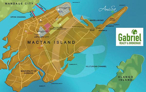 vicinity map of amisa private residences mactan