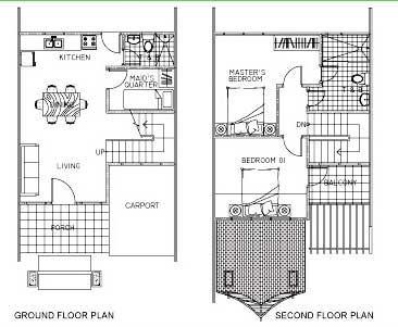 argao royal palms, townhouse floor plan