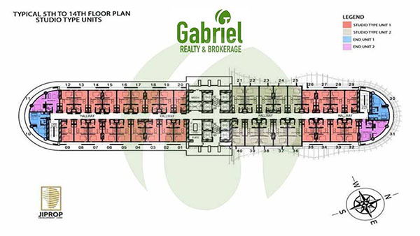 J TOWER RESIDENCES typical floor plan 5th to 14th floors